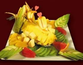 Как оформить фрукты на столе фото