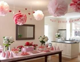 Как оформить комнату ко дню рождения фото