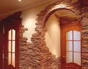 Как оформить коридор: отделка декоративным камнем фото
