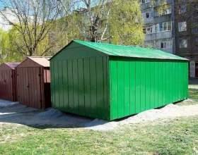 Как оформить металлический гараж фото