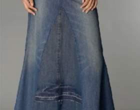 Как перешить джинсы в юбку фото