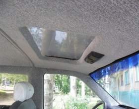 Как перетянуть потолок в машине фото