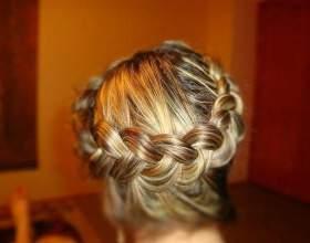 Как плести косу наизнанку фото