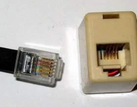 Как подключить телефонную евророзетку фото