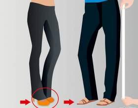 Как подшить джинсы фото
