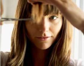 Как подстричь прямую челку фото