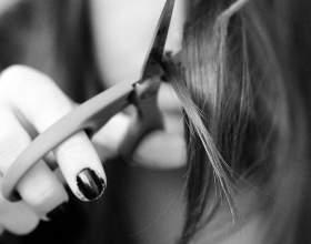 Как подстричь рваную чёлку фото