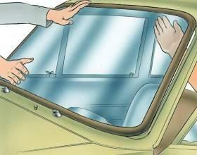 Как поменять лобовое стекло фото