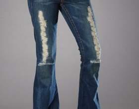 Как посадить джинсы фото