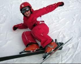 Как поставить ребенка на лыжи фото