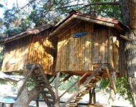 Как построить домик на дереве фото
