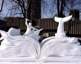 Как построить фигуры из снега фото