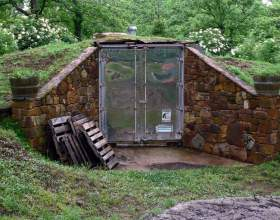 Как построить подземное овощехранилище фото