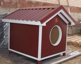 Как построить для собаки конуру фото
