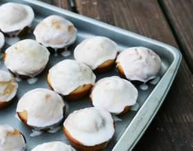 Как приготовить блинные маффины с шоколадом и сахарной глазурью фото