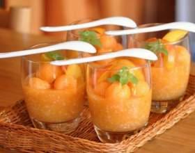 Как приготовить десерт из дыни и нектарина фото