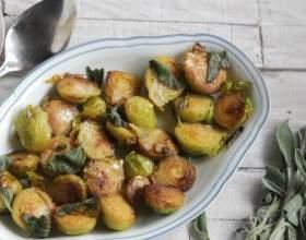 Как приготовить гарнир из жареной брюссельской капусты фото