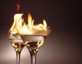 Как приготовить горящие алкогольные коктейли фото