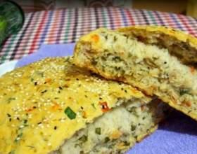 Как приготовить хлеб с томатами и зеленью фото