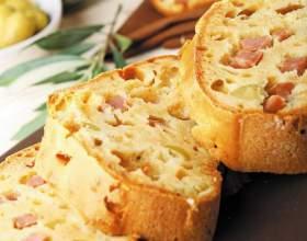 Как приготовить хлеб с ветчиной и луком фото