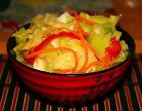 Как приготовить острую закуску из капусты с чесноком фото
