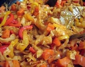 Как приготовить овощное рагу с капустой фото