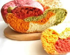 Как приготовить разноцветный овощной хлеб фото