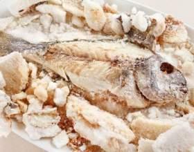 Как приготовить рыбу под солью фото