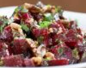 Как приготовить салат из свеклы с орехами фото