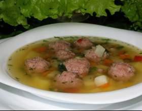 Как приготовить суп с фрикадельками фото