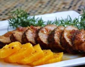 Как приготовить свинину в апельсинах фото