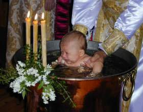 Как проходит крещение ребенка фото