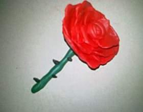 Как просто сделать розу из пластилина фото