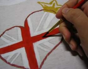 Как расписать футболку акриловыми красками фото