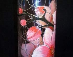 Как расписать вазу витражными красками фото