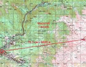 Как рассчитать расстояние по карте фото