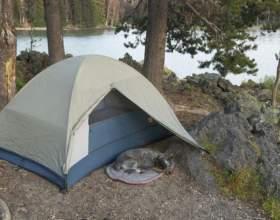 Как разбить палатку фото
