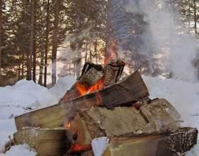 Как развести костер зимой фото
