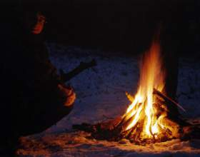 Как разжечь огонь без спичек фото