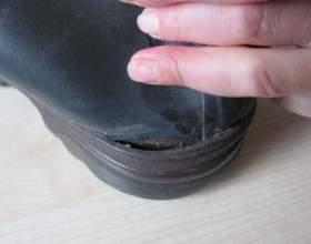 Как самому заклеить обувь фото