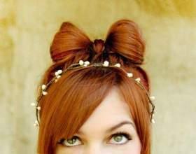 Как сделать бантик из волос фото