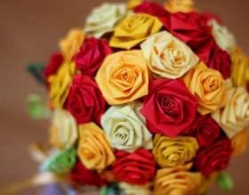 Как сделать букет цветов из цветной бумаги на 8 марта фото