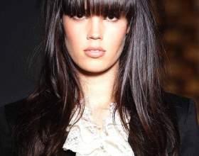 Как сделать челку на длинных волосах фото
