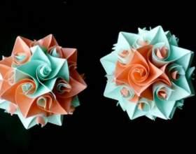 Как сделать цветочные шары кусудамы из модулей фото