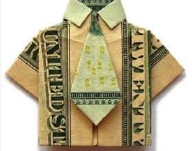 Как сделать денежную рубашку? фото
