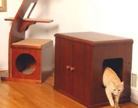 Как сделать самому домик для кота фото
