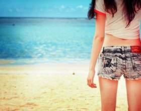 Как сделать джинсовые шорты фото