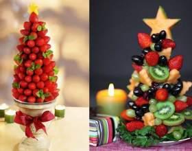 Как сделать елку из фруктов фото