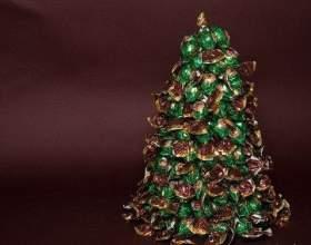 Как сделать елку из конфет фото