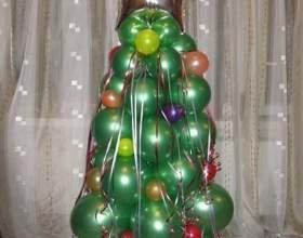 Как сделать елку из шаров фото
